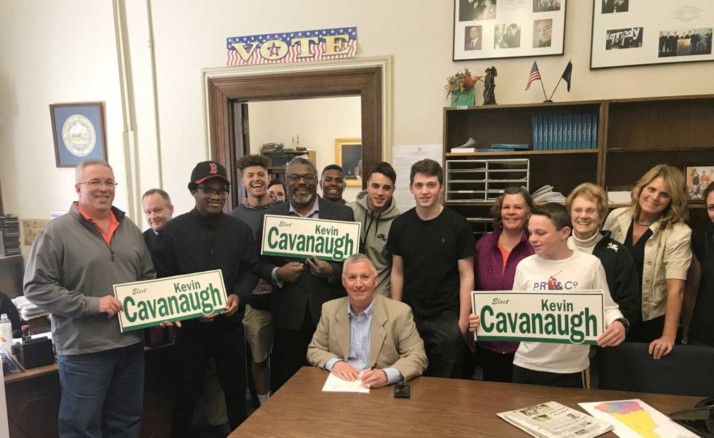 Volunteers for Kevin Cavanaugh campaign